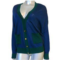 GetWhatUWant #STJOHN #YellowLabel #Cardigan #M #Knit #GoldButtons #Sweater #Navy #GreenTrim #OWNTV #eBay #sale #women http://is.gd/BiUfcx