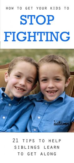 nice great tips for how to get your kids to stop fighting – I want to try stop sibling fights medianet_width = medianet_height = medianet_crid = medianet_versionId = (function() { var isSSL = 'https:' ==. Parenting Advice, Kids And Parenting, Parenting Classes, Punishment For Kids, Teaching Kids, Kids Learning, Sibling Fighting, Stop Fighting, Fighting Kids