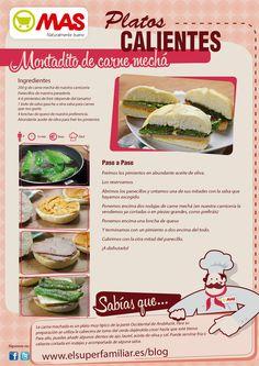Cómo preparar la receta de un montadito de carne mechá