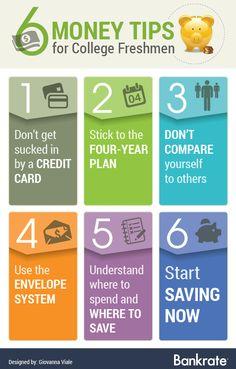 Article: 6 Money Tips for College Freshmen Financial Success, Financial Literacy, Financial Planning, College Fund, Saving For College, Never Stop Learning, Money Matters, Freshman