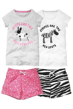 Buy Animal Image Short Pyjamas Two Pack (3-16yrs) from the Next UK online shop