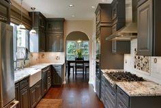 Favorite Kitchen Cabinet Paint Colors - Dark Granite by Behr paints