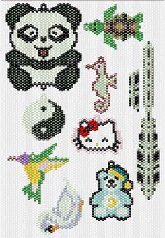 Motifs Perler, Perler Patterns, Peyote Patterns, Beading Patterns, Stitch Patterns, Knitting Patterns, Perler Beads, Brick Stitch Earrings, Seed Bead Patterns