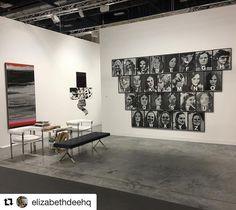 Go see Lisa Beck at #ArtBasel Miami Beach! . #Repost @elizabethdeehq  Opening at noon with  new hang...#lisabeck #gretchenbender #dennisadams booth J15 @artbasel