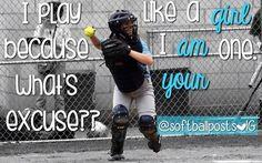 Play like a girl! Follow softballposts on Instagram