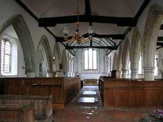 Interior, Brookland church, looking east - Category:Church benches in Kent - Wikimedia Commons