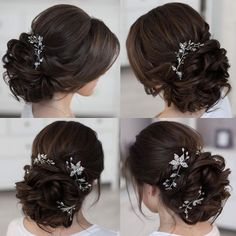 This wedding hairstyles updo really are beautiful Bridal Hair Buns, Bridal Hairdo, Wedding Hair And Makeup, Wedding Hairstyles For Long Hair, Bride Hairstyles, Short Hair, Quince Hairstyles, Wedding Hair Half, Hair Upstyles
