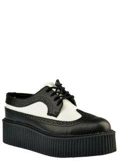 MONDO HI WINGTIP CREEPER - T.U.K. Shoes - Designer Women's Shoes
