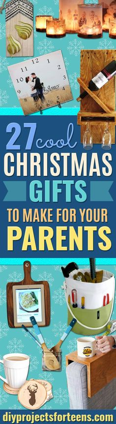 DIY Christmas Presents To Make For Parents - Cute, Easy and Cheap Crafts and Gift Ideas for Mom and Dad - Awesome Things to Make for Mothers and Fathers - Dollar Store Crafts and Cool Things to Make on A Budget for the Holidays - DIY Projects for Teens  via @diyprojectteens Christmas Presents To Make, Christmas Gifts For Mom, Presents For Mom, Christmas Crafts, Cheap Christmas, Christmas Candles, Homemade Christmas, Kids Christmas, Christmas Cookies