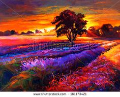 Mediterranean Landscape, Painting By Oil On A Canvas, Illustration - 180259859 : Shutterstock
