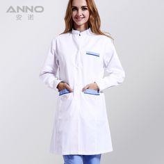 2016 stylish  white medical lab coat clothing medical services medical clothing plus size scrubs Long  -sleeve with Comfortable