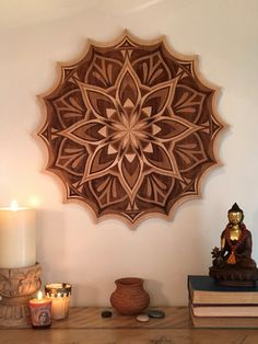 Thrive, a wooden laser cut mandala by design of Eileen Bradley and