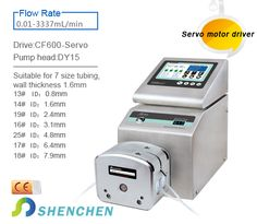 Model No:CF350 Category:Filling System(Intelligent Type) FlowRate:0.1-4340mL/min Product features Intelligent calibration and online micro adjusting function. Can be connected with foot pedal switch or received switch signal,to achieve external control. The unique motor working status output signal,for monitoring the filling status. #peristalticpump #laboratory #liquidfilling #eliquid #vaping Peristaltic Pump, Filling System, Vaping, Type, Unique, Model, Food, Electronic Cigarette, Eten