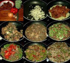 Tomakonyha: Villámgyors ebédek – csirkemájas-zöldborsós rizs Palak Paneer, Beef, Ethnic Recipes, Food, Meat, Essen, Meals, Yemek, Eten