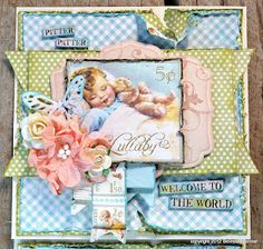 Little Darlings Gorgeous vintage inspired welcome baby card