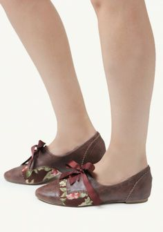 Lucille Floral Oxfords By Restricted | Modern Vintage Shoes