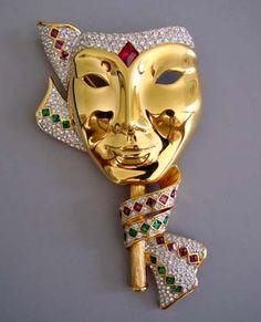 SWAROVSKI mardi gras mask