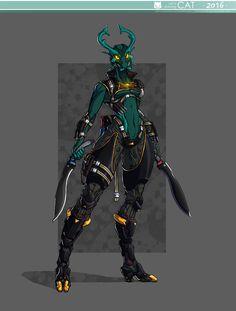 ArtStation - Bionicle - Dark Hunter Lariska, Ruben Menzel