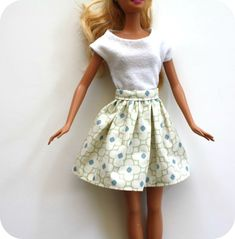 Barbie Skirt - sewing.   Looks simple enough for me to make.