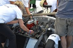 Wrenching on Race Cars