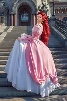 ariel costume pink dress - Google Search