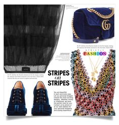"""""""Pattern Challenge: Stripes on Stripes"""" by dolly-valkyrie ❤ liked on Polyvore featuring Missoni Mare, Simone Rocha, Rochas, Gucci, stripesonstripes and PatternChallenge"""