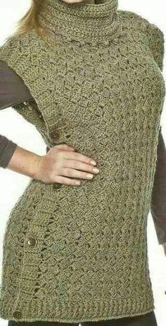 images attach c 7 98 793 Crochet Jacket, Crochet Cardigan, Knit Crochet, Loom Knitting, Knitting Patterns, Crochet Patterns, Crochet Woman, Crochet Fashion, Crochet Crafts