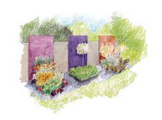 Transformez une clôture disgracieuse en une succession de tableaux vivants et colorés