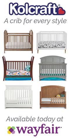 Kolcraft has a selection of beautiful, hand-crafted cribs that will suit any nursery. For two weeks only, Kolcraft cribs will be on sale exclusively at Wayfair. Take that first step to designing the perfect nursery with a gorgeous centerpiece! Sale ends J Baby Wall Art, Nursery Wall Art, Nursery Decor, Nursery Furniture, Nursery Bedding, Preparing The Nursery, Baby On The Way, Crib Mattress, Nursery Inspiration