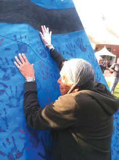 Mni Wiconi is the theme of the latest tipi project that Rex Carolin, a member of the Cheyenne River Sioux Tribe, designed and painted.