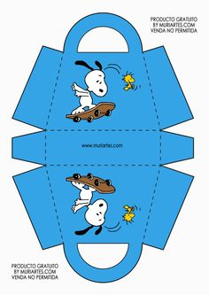 Caja bolsita Charlie Brown Y Snoopy, Snoopy Love, Snoopy Birthday, Snoopy Party, Woodstock Snoopy, Peanuts Snoopy, Paper Crafts Origami, Cute Box, Baby Party