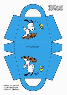 Caja bolsita Woodstock Snoopy, Snoopy Love, Peanuts Snoopy, Snoopy Birthday, Snoopy Party, Cumple Paw Patrol, 3d Templates, Paper Crafts Origami, Cute Box
