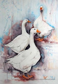 Lorraine Brown | WATERCOLOR | Shall We Gossip?
