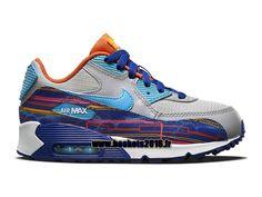 best service 46379 0de2d Nike Air Max 90 Chaussure Nike Officiel Pour Garçons Filles Gray - bleu