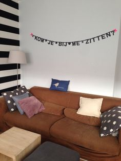 #Wordbanner #tip: Kom je bij me zitten - Buy it at www.vanmariel.nl - € 11,95, 2 for € 20
