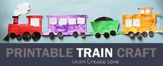 Printable Train Craft