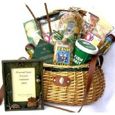 Large fishing gift basket in deluxe fishing creel