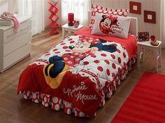 Taç Disney Minnie Mouse Tek Kişilik Lisanslı Uyku Seti   cazip geldi