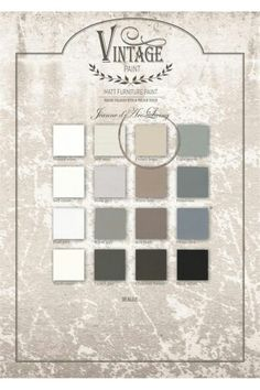 Kalkmaling palette fra Vintage