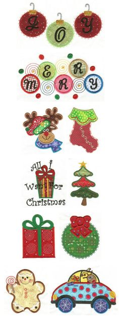 Embroidery | Free Machine Embroidery Designs | Christmas Whimsy Applique