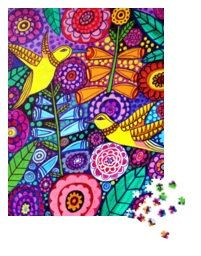 Modern art 1000 piece jigsaw puzzle by Heather by GeckoRouge, $41.00
