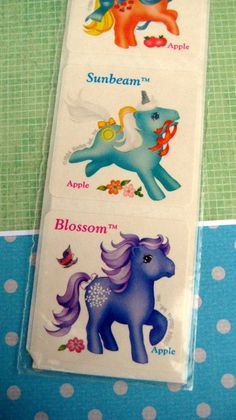 Vintage 80s My Little Pony Scratch n Sniff Stickers by unicornkids, $16.99