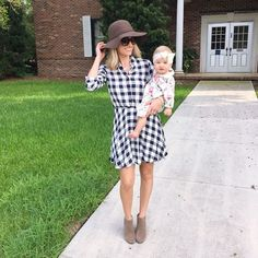 """""""I hope you all had a great Labor Day! I love this sweet girl of mine so much! This dress and these wedge booties are both so comfortable  my dress also…"""""""
