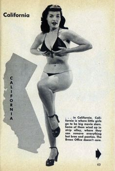 Bettie Page in 1953 issue of Carnival magazine.