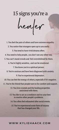 15 signs you're a healer! healer, healing, spirituality, spirit, soul, positivity, self care, self love, self development, psychology, personal growth, personal development, anxiety, depression, free resources, guides, workbook, inspiration, self help,, g