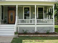 front porch of 1900 Victorian farmhouse via glassslipperrestorations.com