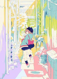 perkgk:  ■【GUMI・MV】 路地裏猫の正体 / TOKOTOKO(西沢さんP)  contours et couleurs