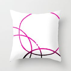 Circles Overlap 2 Throw Pillow by Jensen Merrell Designs - $20.00