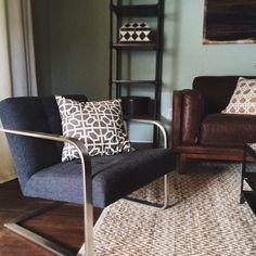 This Steel-Armed Bend chair is looking so good in @crystalknoxstyle design. #mywestelm #remodel #wishlist