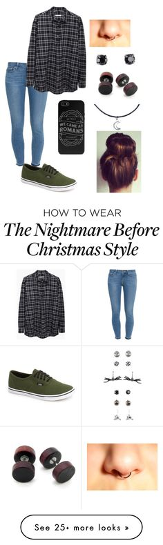"""""""Christmas Shopping"""" by bands-and-all-black on Polyvore featuring Paige Denim, Vans and 6397"""